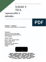 Probabilidad y Estadística Aplicaciones y Metodos (Canavos)