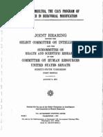 Informe del Senado estadounidense sobre Operación MK ULTRA de 1977