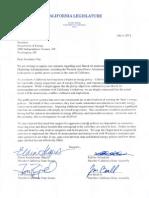 California Legislative -- Letter to Chu -- 7-7-2012