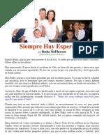 Spanish Siempre Hay Esperanza Por Retha McPherson