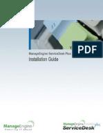 ManageEngine ServiceDeskPlus Help InstallationGuide