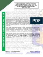 Boletin de Prensa 128
