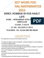 Index Number in Our Daily Life