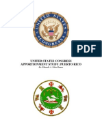 United States Congress Apportionment Study - Puerto Rico
