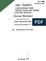 I S 1 - 1968 Indian Flag