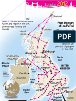 Olympic torch route through Great Britain