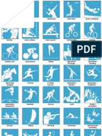 The official pictograms of the London Olympics