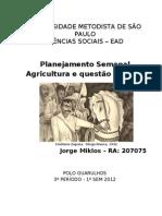 PS Agricultura e Questao Agraria