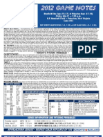 Bluefield Blue Jays Game Notes 7-27