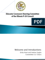 P20 Council Teacher Certification Steering Committee Ppt