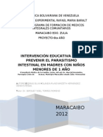 intervencion educativa en parasitismo intestinal