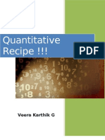 Quantitative Recipe !!! by Veera Karthik