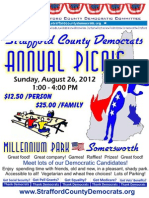 Strafford County Democrats Annual Picnic- 2012 Flyer