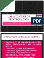LAS ACCIONES DE REINTEGRACIÓN