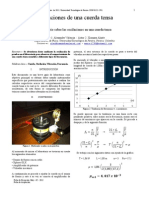 Laboratorio 3 - Oscilaciones en Cuerda Tensa