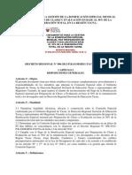 Decreto Regional Tacna
