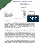 July 26, 2012 Letter Levin to Sand, J. re certain deadlines