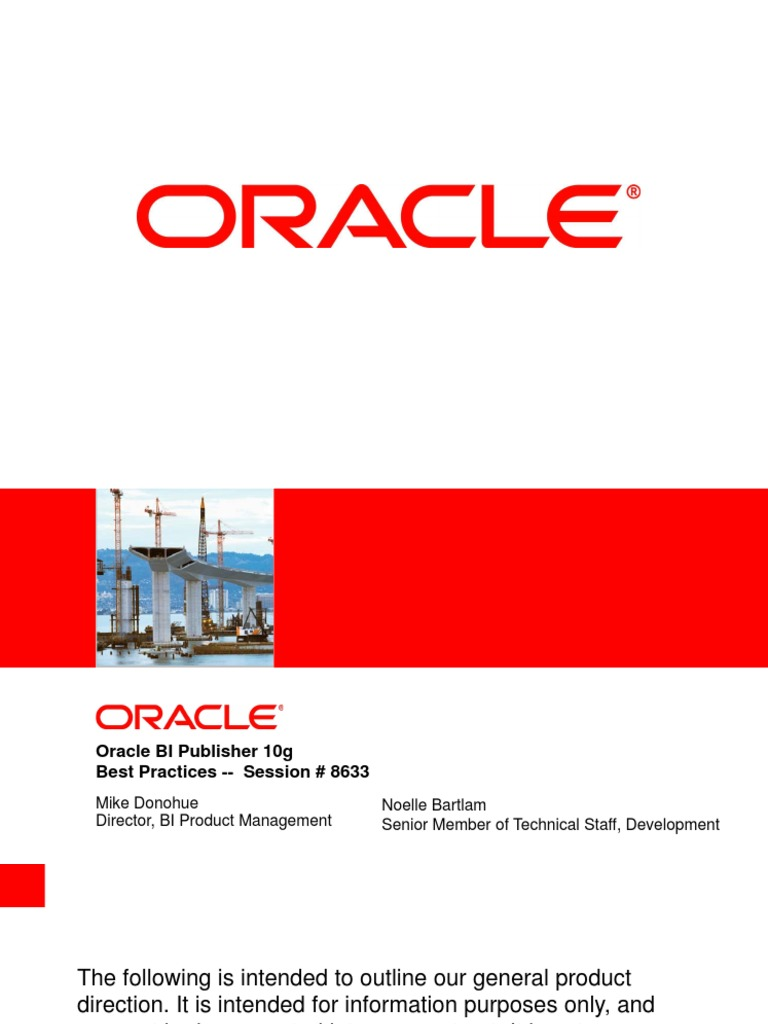 Oracle bi publisher best practices oracle database software oracle bi publisher best practices oracle database software engineering baditri Images