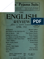 237. The English Review 1921