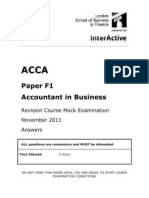 ACCA F1 Revision Course Mock-1-New-Syllabus- ANSWERS
