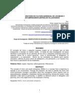 Ponencia I Simposio Investigación - ESTUDIO EXPLORATORIO DE CULTURA GERENCIAL DE LOS MICRO Y PEQUEÑOS EMPRESARIOS (MYPES) EN VILLAVICENCIO 2012