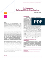 D-limonene Safety and Clinical Studies