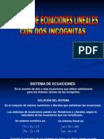 sistemas de ecuaciones con dos incgnitas