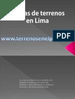 Ventas de Terrenos en Lima