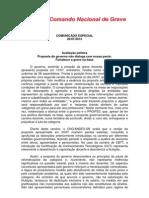 Comunicado Especial 26-07-02