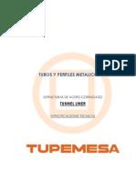 Especificaciones Técnicas - Tunel Liner _ TUPEMESA_ Mayo 2012