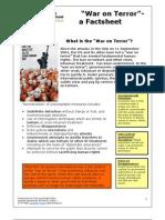 War on Terror Factsheet. January 2008