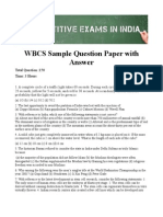 Wbcs Question Paper With Answer