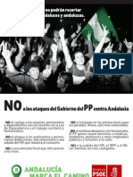 NO a los ataques del Gobierno del PP contra Andalucía