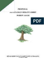 PROPosal Penanaman 100 Boibit Pohon Asam
