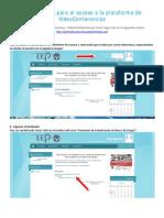 Instrucciones Para El Acceso a La Plataforma de VideoConferencias
