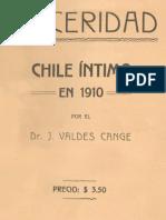 Julio Valdés Canje - Sinceridad. Chile intimo en 1910