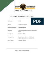 Georgia Inspector General Report, Revenue Maximization, Dec 2005