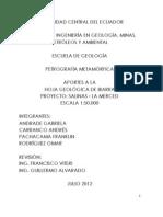 APORTES A LA  HOJA GEOLÓGICA DE IBARRA PROYECTO