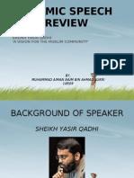 Islamic Speech Review Presentation