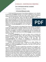 Spm Paper 1 Sample Essays