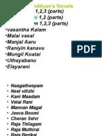 Sandilyan Novel List