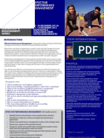 Effective Performance Management 09 - 10 December 2012 Dubai