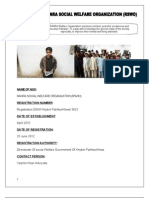 RANRA SOCIAL WELFARE ORGANIZATION (RSWO)