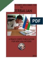 PEACE CORPS  AZERBAIJAN  WELCOME BOOK  |  2012