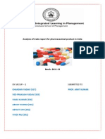 Analysis of Trade Report for Pharmaceutical Product in India