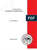 Introduction to Geodetic Astronomy (d. b. Thomson)