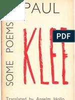 Paul Klee Some Poems by Paul Klee 1962