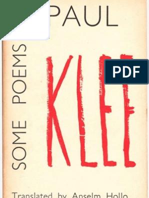 Paul Klee Some Poems By Paul Klee 1962 Poetry Paintings