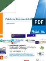 Plateforme décisionnelle SAS