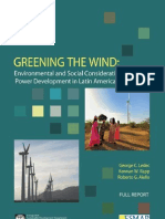 Greening the Wind - Environmental and Social Considerations for Wind Power Development in Latin America and Beyond